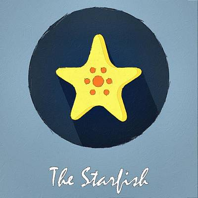 Painting - The Starfish Cute Portrait by Florian Rodarte