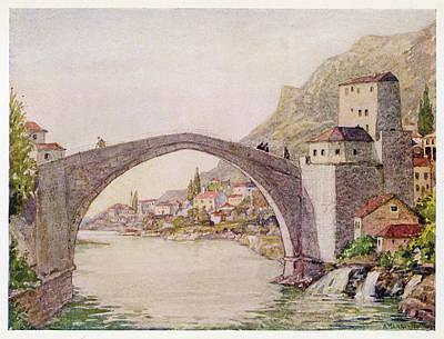 The Stari Most (old Bridge) - Mostar Art Print