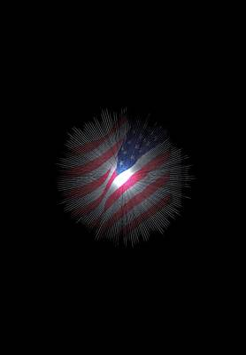 Abstract Digital Photograph - The Stars And Stripes by Jeff Swan