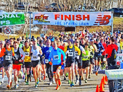 Digital Art - The Start Of The Spring Thaw Race by Digital Photographic Arts