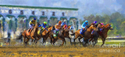 The Starting Gate Art Print