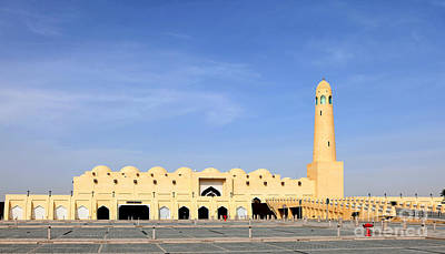 Photograph - The State Mosque In Doha Qatar by Paul Cowan