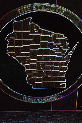 To Know Digital Art - The State Of Wisconsin by Kay Novy