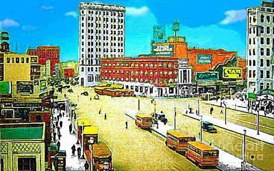 The State Theatre On Journal Sq. In Jersey City N J In 1930. Art Print