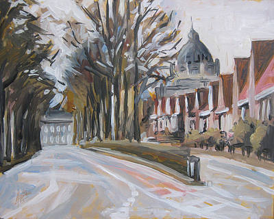 Limburg Painting - The Statensingel In Maastricht by Nop Briex