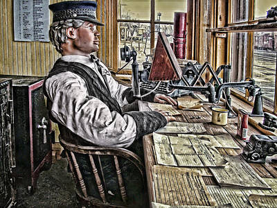 Typewriter Photograph - The Station Master by Ken Smith