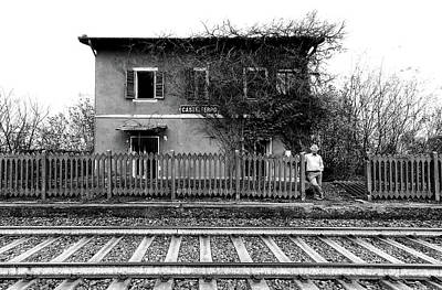 Railway Station Photograph - The Station Of Castelferro by Carlo Ferrara