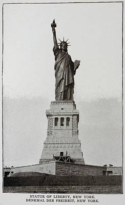 The Statue Of Liberty Photograph - The Statue Of Liberty by British Library