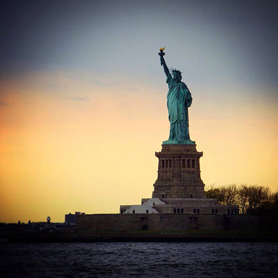 New York City Photograph - The Statue Of Liberty by Natasha Marco