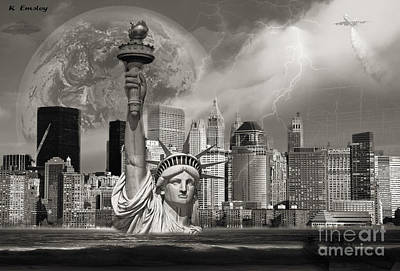 The Statue Of Sandy Art Print by Karl Emsley