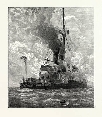 Boiler Drawing - The Steam-boiler Explosion On Board H.m.s by English School