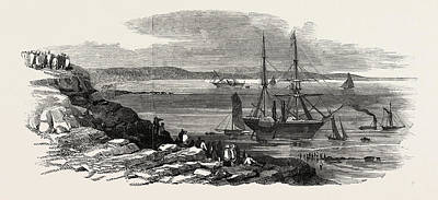 Cyclops Drawing - The Steamships Pottinger And Cyclops Stranded In Thorness by English School