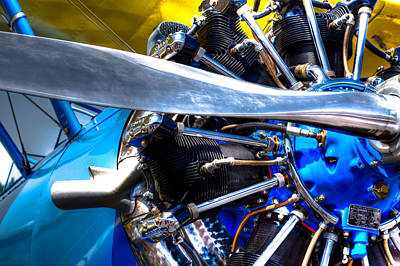 Airplane Engine Photograph - The Stearman Jacobs Aircraft Engine by David Patterson