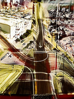 Mixed Media - The Steep City by Russell Pierce