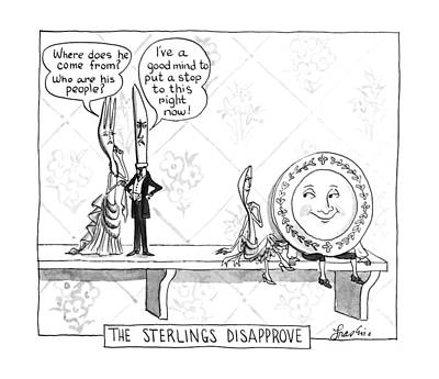 The Sterlings Disapprove: Art Print by Edward Frascino