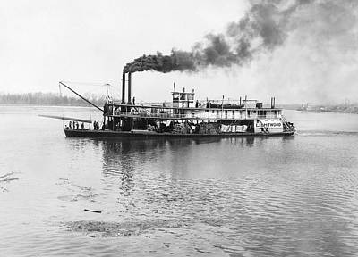 The Sternwheeler lightwood Art Print by Underwood Archives