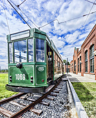 Photograph - The Stib 1069 Streetcar At The National Capital Trolley Museum I by William Kuta