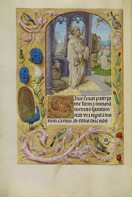 The Stigmatization Of Saint Francis Master Of The Lübeck Art Print