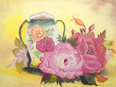 Oil Painting - Flowers - The Still Life Of Roses by Haley Mueller