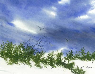 The Still Of Shore Art Print by Karen  Condron