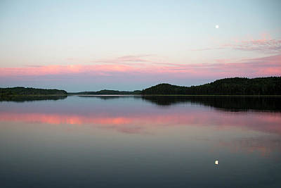 Luna Photograph - The Still Water Mimics The Skys Painted by Robbie George