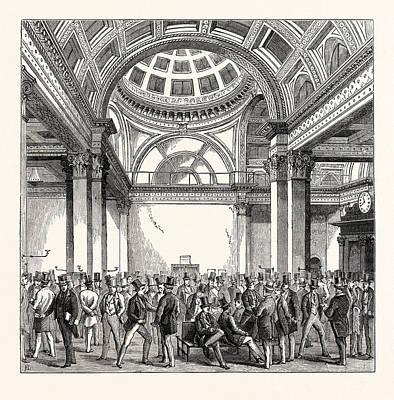The Stock Exchange London Art Print by English School