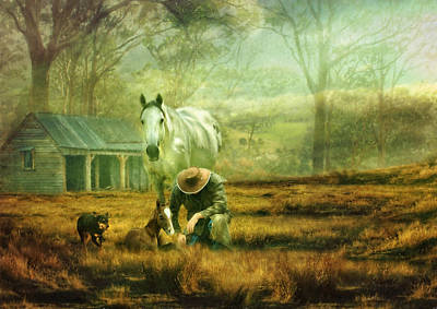 Kelpie Photograph - The Stock Horse by Trudi Simmonds