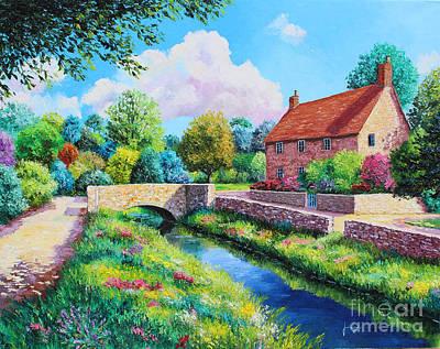 Villa Painting - The Stone Bridge by Jean Marc Janiaczyk