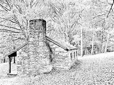Digital Art - The Stone Manse At Pittsburgh's South Park by Digital Photographic Arts
