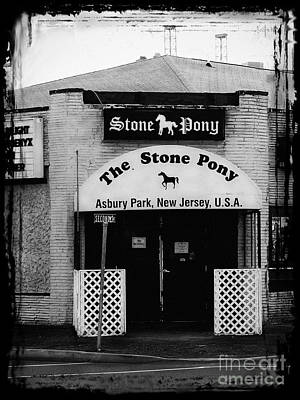 Black Photograph - The Stone Pony by Colleen Kammerer