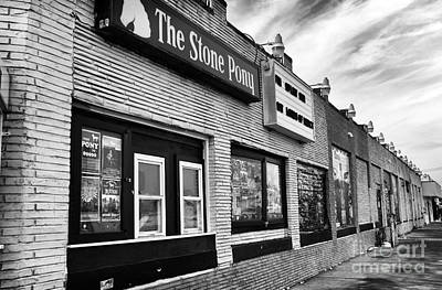 Photograph - The Stone Pony Mono by John Rizzuto