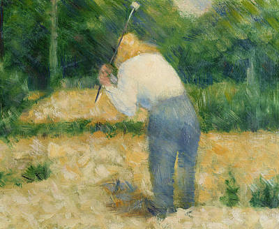 Country Setting Painting - The Stonebreaker by Georges Pierre Seurat