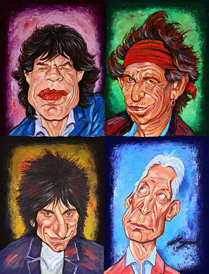 Rolling Stone Magazine Mixed Media - The Rolling Stones by Dan Haraga