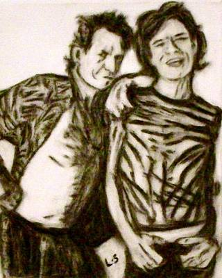 Mick Jagger And Keith Richards Drawing - The Stones by Lynette  Swart