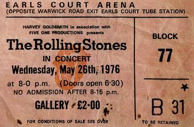 The Stones Play London Art Print