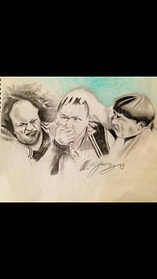 The Stooge Legends Print by Mario Jimenez