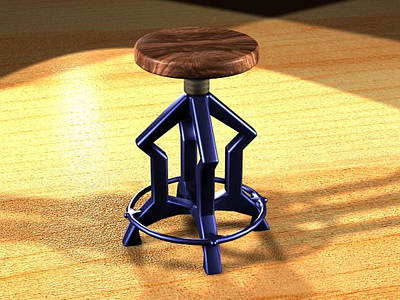 The Stool Twin Art Print by Giuseppe Epifani
