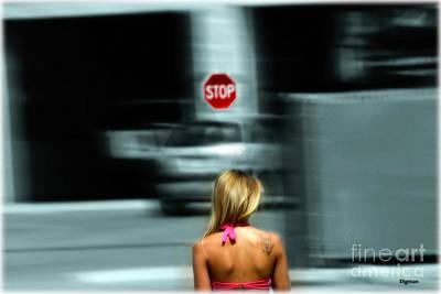 The Stop Walker  Art Print by Steven Digman