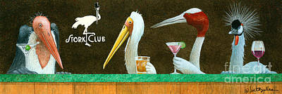 Stork Painting - The Stork Club... by Will Bullas