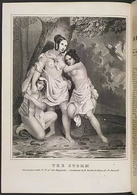 Depictions Of Nudity Photograph - The Storm by British Library