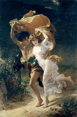 Painting - The Storm  by Pierre Auguste Cot