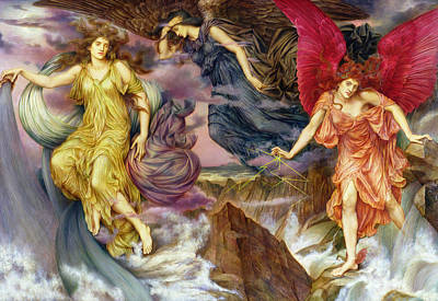 Painting - The Storm Spirits by Evelyn De Morgan