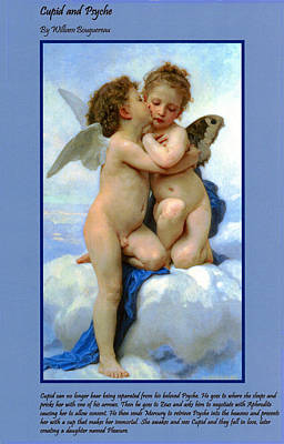Digital Art - The Story Of Cupid And Psyche by William Bouguereau