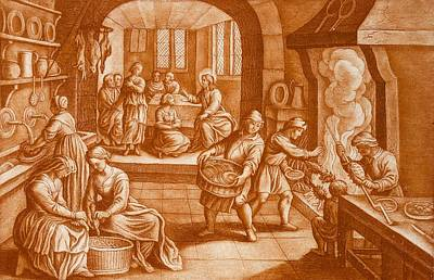Listening Drawing - The Story Of Mary And Martha by Mattaus II Merian
