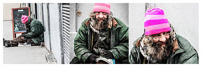 Photograph - The Story Of The Pink Hat Vagabond Guy by Stwayne Keubrick
