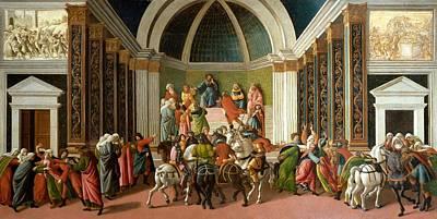 Bergamo Painting - The Story Of Virginia by Sandro Botticelli