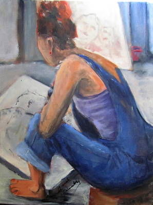 Painting - The Story Teller by Sarah Barnaby