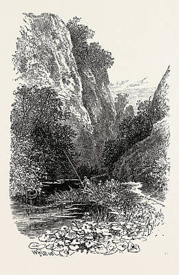 Popular Culture Drawing - The Straits, Dovedale by English School