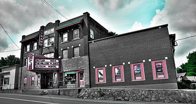 Adirondacks Photograph - The Strand Theatre - Old Forge by David Patterson