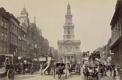 Horse And Cart Photograph - The Strand by Unknown